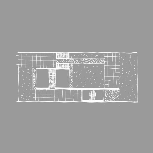 House along a wall: for a family we designed a plan where house, atelier and garden are designed as one ensemble. The different spots in the garden will have their own orientation, privacy and usage. . . @keizer_koopmans #architecture #residentialarchitecture