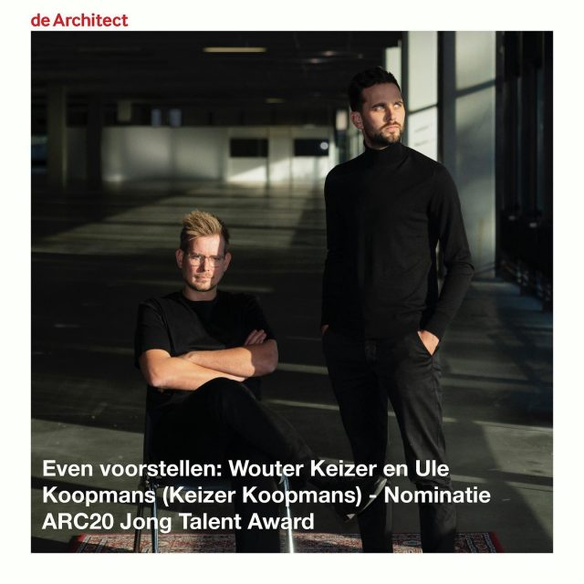 Publication of our nomination for the ARC20 young talent award (in Dutch) on dearchitect.nl. Link in bio. . . @dearchitectnl @keizer_koopmans portrait by @jussipuikkonen