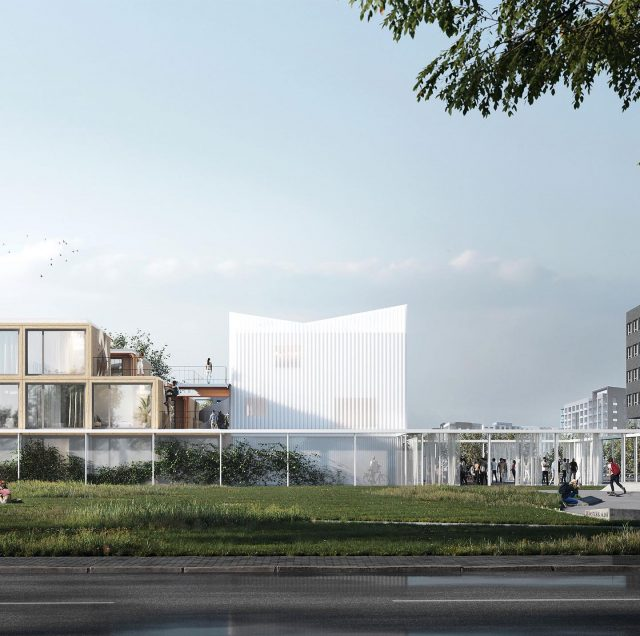 R Way of Living. A new housing concept that combines afforable housing with hospitality. The design combines an intimate inner courtyard with an iconic pavilion along a public square. . . @keizer_koopmans @3dvividvision #architecture #publicpavilion #temporalhousing