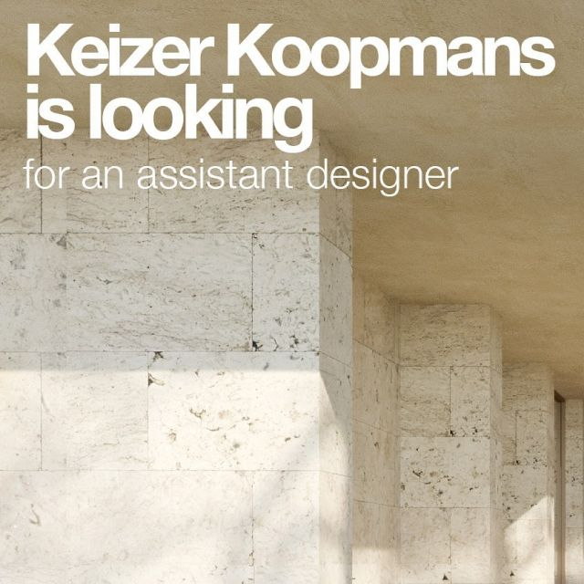 Due to exiting new projects we're a bit behind on our regular news updates! Time to expand the team, more info concerning the job application can be found on our website. We're happy to share a lot of content coming weeks, have a good weekend!!  #keizerkoopmans