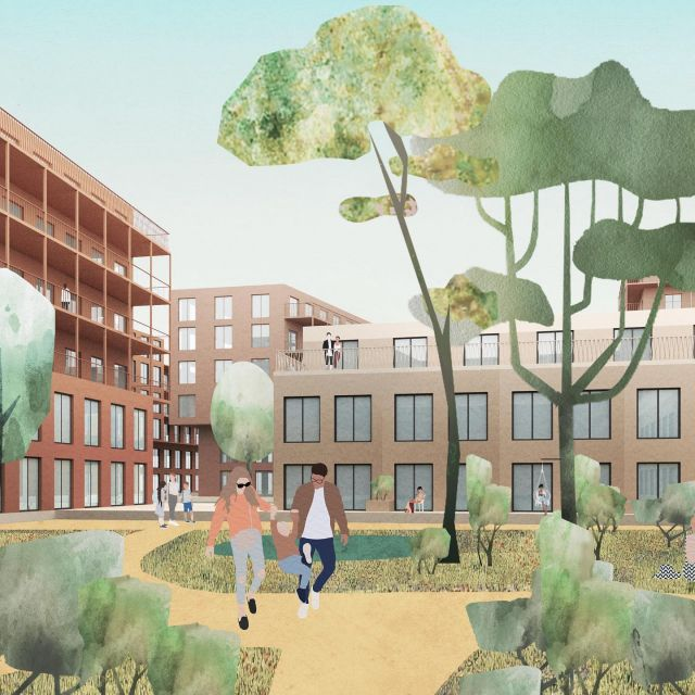 Images expressing our vision for a new urban district with attention to the zoning of quiet and social places, with space for kids and families, with details that stimulate social interaction, embedded in a scenic park setting.  More info soon.  @keizer_koopmans @b_plus_b #urbanism #landscapedesign