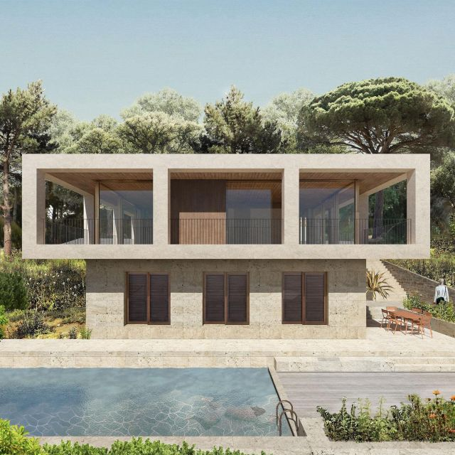 Casa Tamariu is the rational design for a modern villa against the hills of the Costa Brava in Spain. A design that combines maximum living comfort with robust elegance.  We're now finalising the technical design with our partner B01 Arquitectes from Barcelona!  #mediteranianarchitecture @keizer_koopmans
