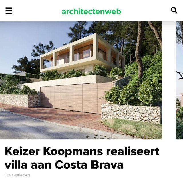 Casa Tamariu posted on Architectenweb, link in bio.  @keizer_koopmans