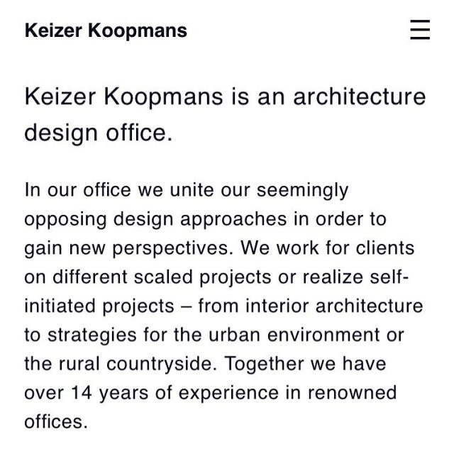 Our website is online 💫! More projects underway - www.keizerkoopmans.com