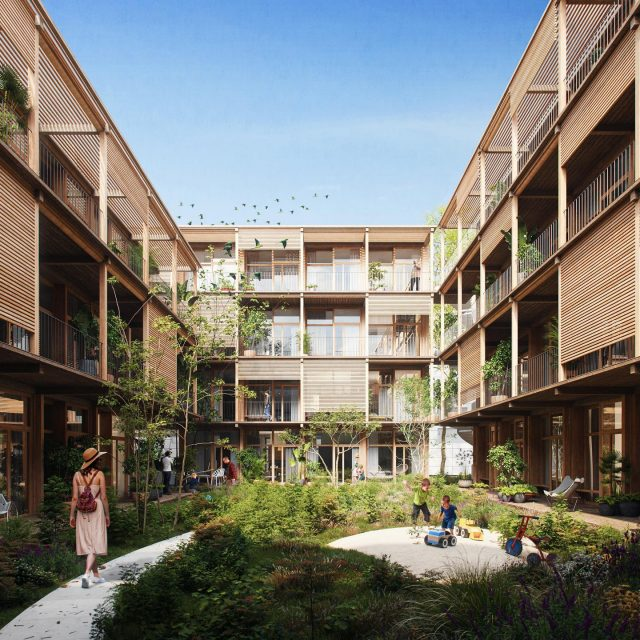 Co-Living Madrid. During quarantine we've been working on a project with ca. 90 co-living housing units in Madrid. A warm residential building made of sustainable materials for a new community. More info and images coming up! . . @keizer_koopmans @3dvividvision #coliving #colivingspace #madridarchitecture #woodarchitecture #residentialarchitecture #architecture #sustainablearchitecture #wood